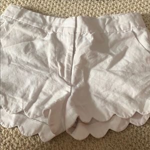 scallop cut girls shorts